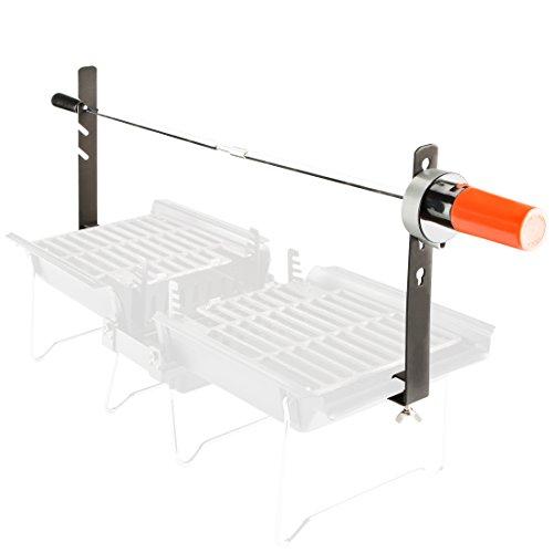 Bruzzzler Kit de rôtisserie avec tournebroche/rôtissoire...
