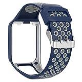 Luckybaby Bracelet en Silicone de Remplacement pour Bracelet de Poignet pour Tomtom 2 3 Runner 2 3 Spark 3 Bracelet de Montre GPS pour Tomtom 3/2 Series GPS Watch Uniquement