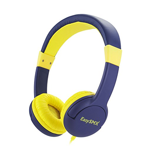 Kinderkopfhörer, EasySMX Stereo Kinder Kopfhörer mit Laustärkebegrenzung, verstellbare Kinder sowie Erwachsenen Headset für iPod iPad iPhone Android Handy Tablet PC MP3 MP4 Player(ohne Mikrofon)(Blau)