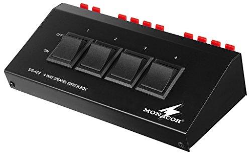 Monacor Lautsprecher-Umschaltbox für 4Paar Lautsprecher (200W max.)