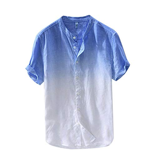 Shirt Herren T-Shirt Polokragen Polohemd Knöpfe Design Männer Slim Fit Kurzarm Tee für Sport Freizeit und Arbeit Casual Kurzarm Hemd Tops Reise Hemd Mode Persönlichkeit T-Shirt ()