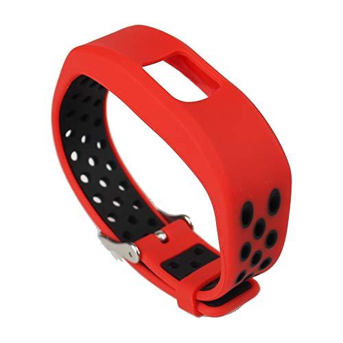 Ersatzarmband mit einstellbarem Silikonarmband für Garmin Vivofit 4 Black Red ()