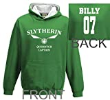 Personalised adult harry potter hoodie slytherin