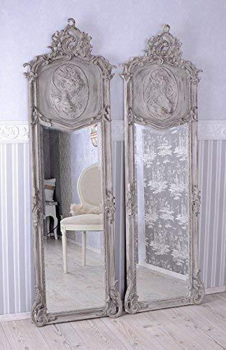 Zwei Spiegel Shabby Chic Wandspiegel Rokoko Frauenbüste Antik Pärchen Palazzo Exklusiv
