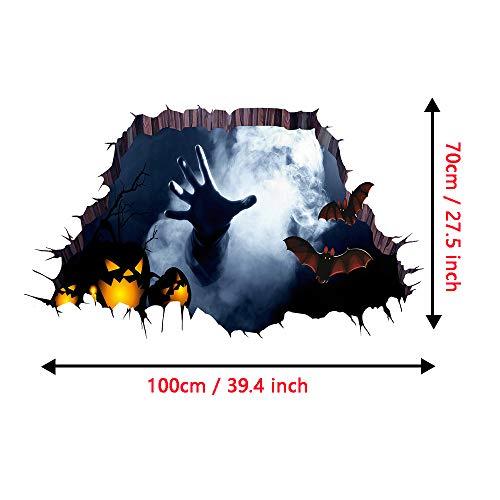 Tuopuda Halloween Wandtattoo 3D Ghost Hand Wandaufkleber Halloween Horror Deko Wanddeko 70 * 100cm (ghost) (Party-ideen Halloween Ghost)