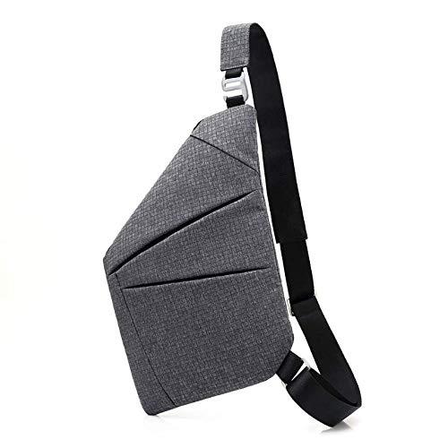 Brusttasche Tasche für Männer Umhängetasche mit Einer Schulter Wasserdicht Plaid Einfach Nähen Oxford-Tuch -