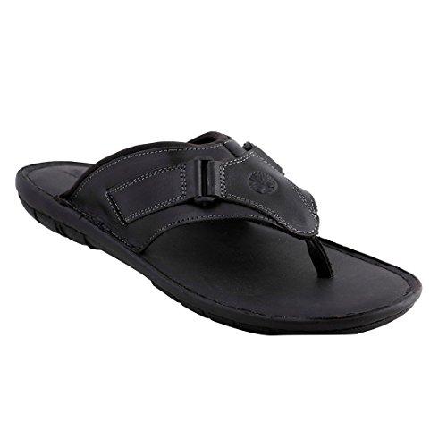 Ventoland Men's Black Genuine Leather Sandals (GWVLF-0161A_45)- 11 UK