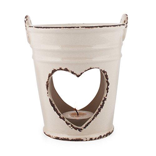 Pajoma Old Romantic Grande Lampe en céramique Beige 13 cm