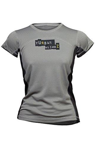 Milo Mujer de bambú Lady camisetas, mujer, color gris, tamaño XL