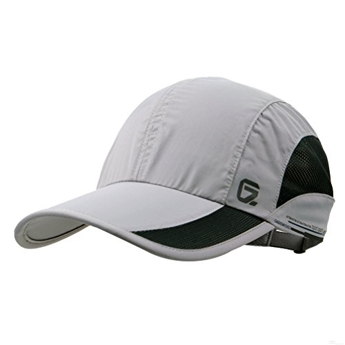 GADIEMKENSD Quick Dry Sports Hat Lightweight Breathable Soft Outdoor Run cap (Classic up, Lightgrey)