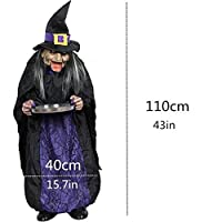 Yangshan Halloween Party Decorations Horror Layout Crawling Ghosts Voice Control Toy Electric Eye Glow Crawling Ghost Haunted House Prop (Color : 06002)