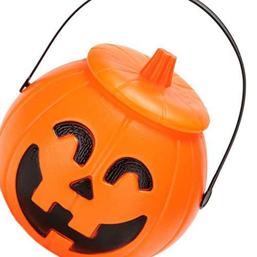 or Treat Halloween Festival Kürbis Geformte Süßigkeit-Spielzeug-Geschenk-Halter Jar Eimer mit Deckel ()