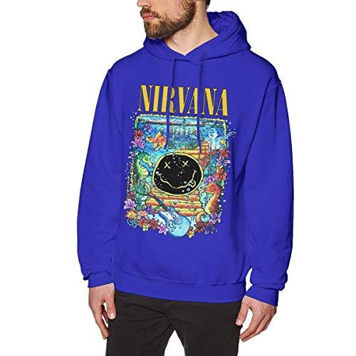 Sudadera con Capucha cálida Sudadera para Hombre Nirvana Smiley Under The Sea Sudadera para Exterior