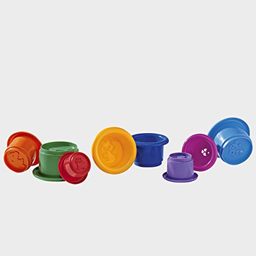 BABY-WALZ 8 bunte Spielbecher mehrfarbig OneSize