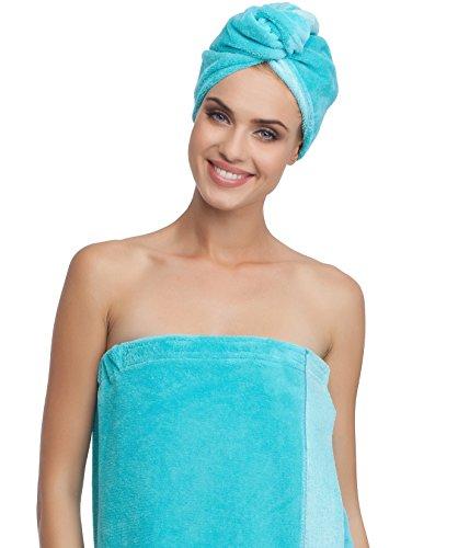 Merry Style Femme Turban 13007 (Bleu Ciel, One Size)