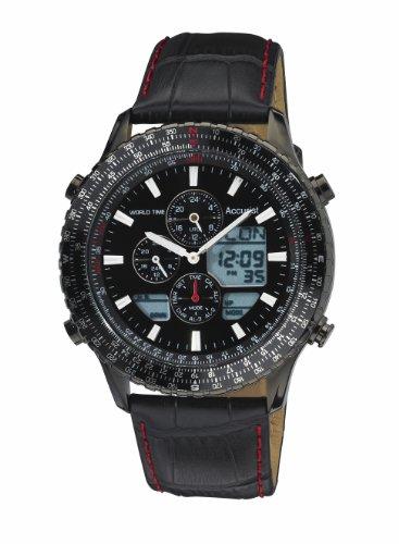 Accurist MS1036BB - Reloj de cuarzo para hombres, color negro