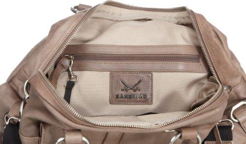 Sansibar Haboob B-081 HA 37, Sac à main femme beige (taupe) - V.1