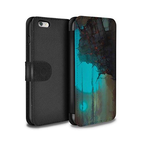 Offiziell Chris Cold PU-Leder Hülle/Case/Tasche/Cover für Apple iPhone 6+/Plus 5.5 / Schiffswrack Muster / Gefallene Erde Kollektion Gift Haupt