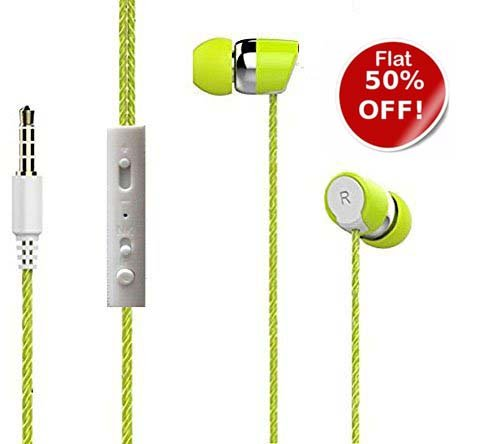 SUMMER SALE!!Bullet Shot Head Series - Universal supported 3.5mm Head phone with MIC - For Music & calls excellent clarity Compatible for Samsung On5 Pro Moto G Plus 4th Gen OnePlus 3T Samsung On7 Pro Xiaomi Redmi 3S Prime Cool Pad Note 5 Cool pad Mega 2.5D Moto G Play Moto G Plus OnePlus 3T Xiaomi MI Max Prime Lenovo Vibe K5 Apple iPhone 5s iPhone Gionee S6s OPPO F1s Samsung S7 edge Honor 8 Asus Zenfone 3 intex Cloud Q11-4G IPad Laptops Computers MP3 Players & Gaming Consoles -EZ031(Green)  available at amazon for Rs.225