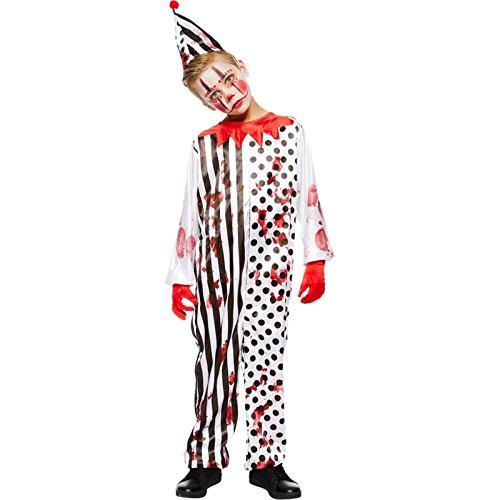 Horror Zombie Clown Kostüm für Kinder Gr. 110 - 146, Größe:110/116 (Zombie Clown)