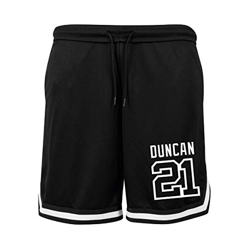 KiarenzaFD Shorts Basket Tim Duncan 21 San Antonio All Star Games, KBYB00006-M-black/white, Schwarz/Weiß, M - Große Kinder Usa-basketball-shorts