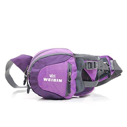 Tragbares Outdoor-Sport-Taschen lässige Männer Messenger bag Taschen Farbe Berg lila
