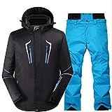 JOYIYUAN Skianzug Herren Winter Outdoor Winddicht Wasserdicht Warm Ski Hosenanzug (Color : 07, Size : M)