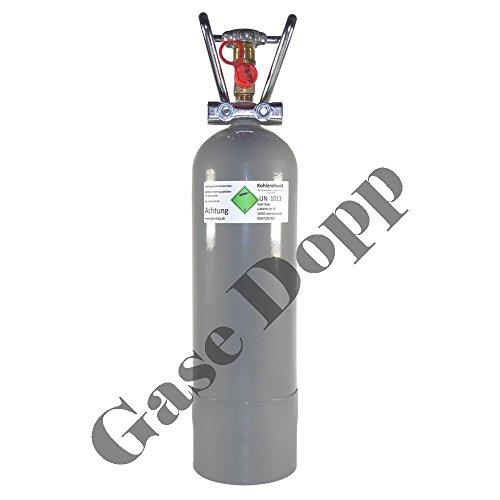 Gase Dopp CO2 2 KG Flasche CO2 Mehrweg Vorrats Flasche passend für GROHE Blue Systeme - TÜV Immer aktuell gefüllt mit Lebensmittel CO2 E290 - aus Deutscher Produktion wie GROHE Blue Flaschen