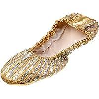 MagiDeal Zapatos de Danza Ballet Muchachas Mujeres Zapatilla de Cuero Suave Ventre de Talón Hermoso - XL