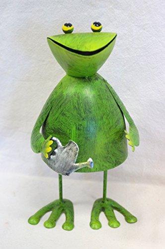 Dekofigur Frosch, wackelnd, aus Metall, GD183 (Gießkanne)