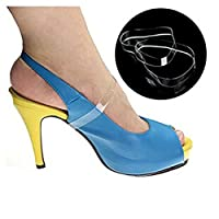 ewinever(TM) 5pair Silicone Loose Clear Invisible High Heel Shoes Straps No-Slip Shoe Lace Shoes Bands Shoe Accessories