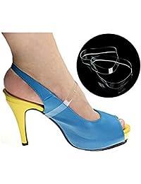 ewinever(R) 5pair Silicona Suelta Claras Invisibles Zapatos De Tacón Alto De Las Correas Antideslizantes Accesorios Zapatos Con Cordones De Zapatos Bandas De Calzado
