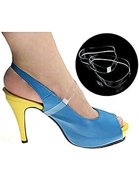 ewinever(R) 5pair Silicona Suelta Claras Invisibles Zapatos De Tacón Alto De Las Correas Antideslizantes Accesorios...