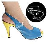 ewinever(R) 5pair Silikon Lose Klar Invisible High Heel-Schuhe Trageschlaufe Anti-Rutsch-Schuh-Spitze Schuhe Bands Schuhzubehör