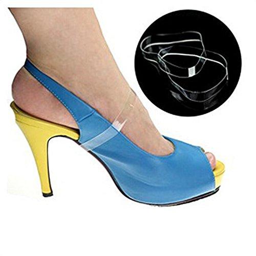 ewinever(R) 5pair Silicone En Vrac Clairs Invisibles Chaussures À Talons Hauts Sangles No-Slip Accessoires Lace Shoe Chaussures Bandes De Chaussures