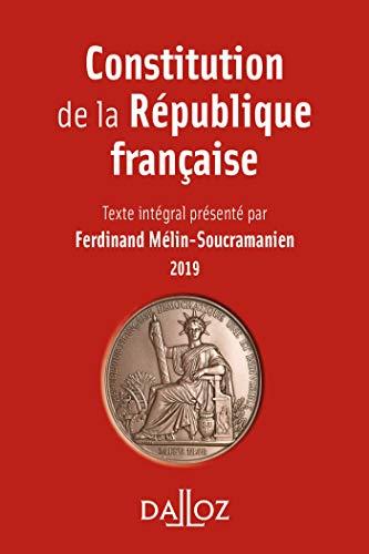 Constitution de la République française. 2019 (À savoir)