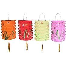 10cm de diámetro unidades OF 12MIX colores año nuevo chino Linternas de papel (colores surtidos)