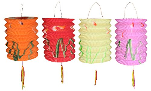Chinese paper lanterns lampshades sky lanterns asia dragon 10cm diameter pack of 12 mix colour chinese new year paper lanterns assorted aloadofball Image collections