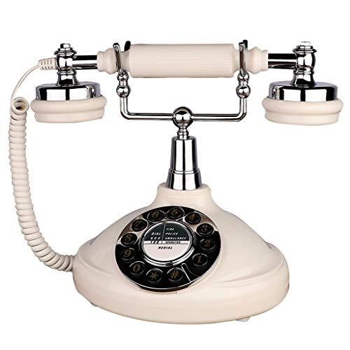 Weiße Vintage 60er Jahre Stil Retro Vintage Button Dial Dial Telefon Und Büro Dekoration Drehen (Dekorationen Tabelle 60)