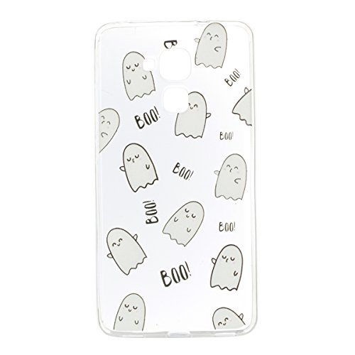 JAWSEU Coque Etui pour Huawei Honor 5C,Huawei Honor 5C Coque en Silicone Transparent,Huawei Honor 5C Silicone Coque Cristal Clair Etui Housse,Huawei Honor 5C Soft Case Gel Protective Cover,Ultra Mince Emoticon