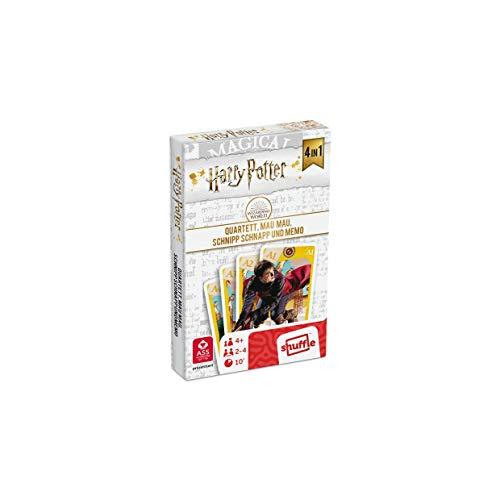 ASS 22584064 Harry Potter-4 in 1 spielbar als Quartett, Mau, Schnipp Schnapp und Memo
