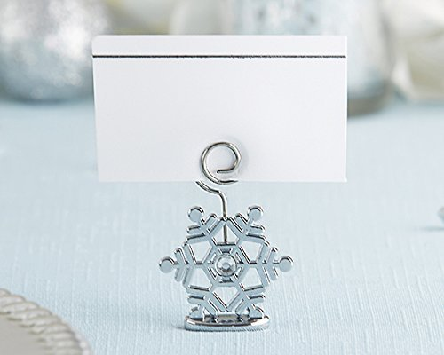 48 sparkling snowflake place card holders by kateaspen