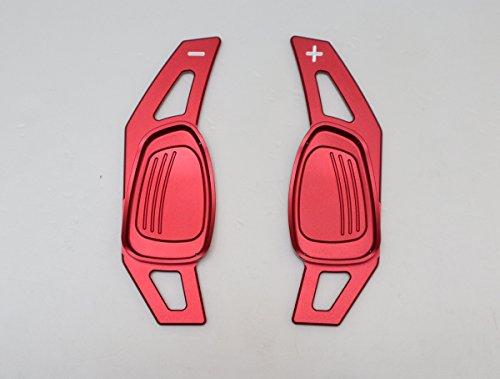 Pinalloy CNC en alliage de métal Rouge volant Paddle Shifter extension pour A5 S3 S5 S6 SQ5 RS3 RS6 RS7 2014-17