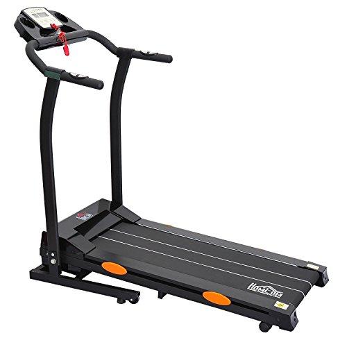 homcom Laufband Elektrisches mit LED Display Heimtrainer Fitnessgerät mit Handpulssensor 750 W, B1-0093