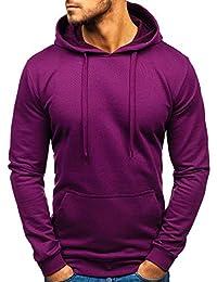 45fe2749bd6 BOLF Homme Sweatshirt avec Capuche Basique Manches Longues Hiver Poche  Kangourou Sportif 1A1