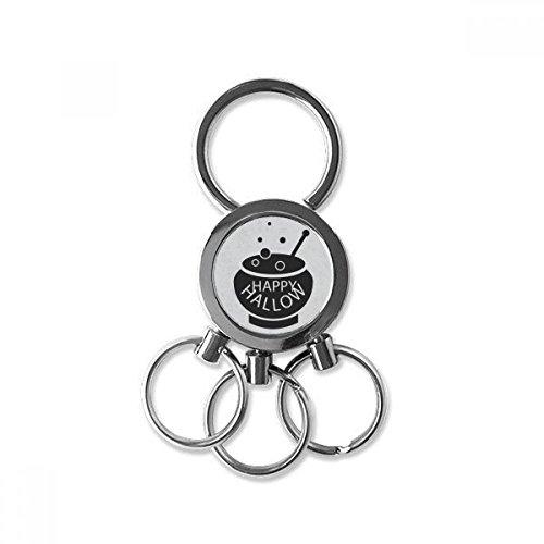 von Schwarz Halloween-Edelstahl-Metall-Schlüsselanhänger Ring-Auto Keychain Keyring Clip Geschenk ()