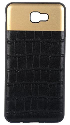 Sanchar's Crocodile Leather Pattern Back Case cover for Samsung J7 Prime (Black)