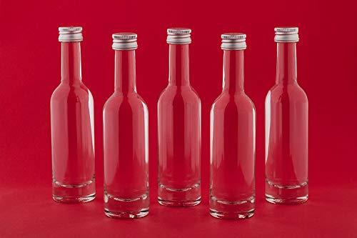 Forma bonita botella de cristal para rellenar de licor, botellas de vinagre, aceites, etc. 203040o 50Unidades de botellas de vidrio vacías 20ml jarra de zumo con rosca botellas por sí misma cierre de rosca de 0,02litros l licores de casa vetro....