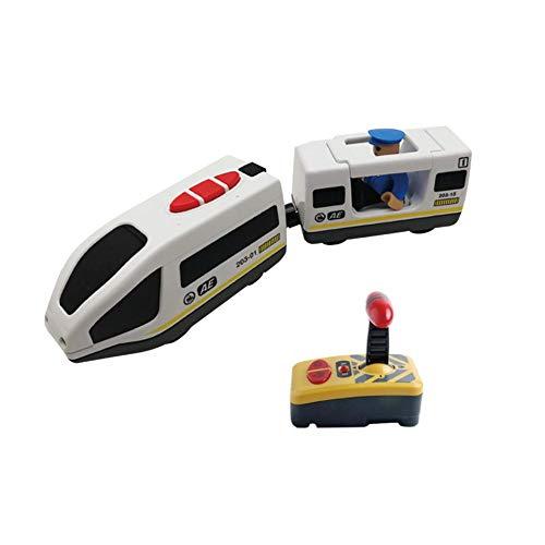 HoneybeeLY Giocattolo Elettrico telecomandato del Treno per i Ragazzi dei Bambini- Compatibile con per Thomas Ikea BRIO Pista di Legno