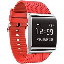 KALOAD X9 Plus Smart Bluetooth Watch Bracelet Wristband Red